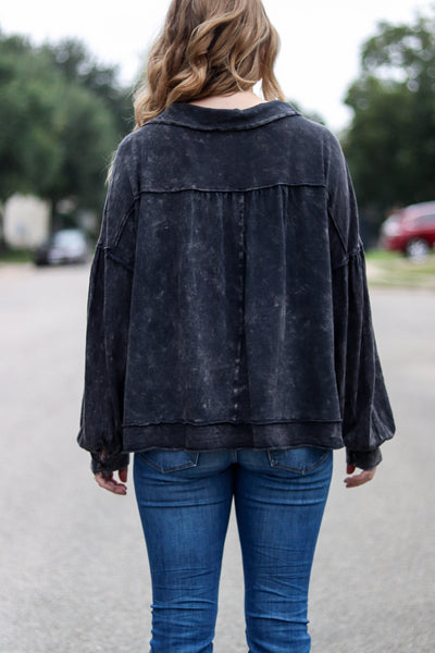 Embrace Me Charcoal Top