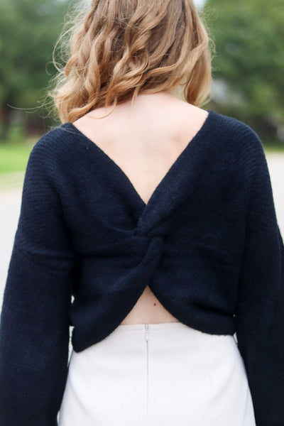 Reversible Twisted Midnight Sweater