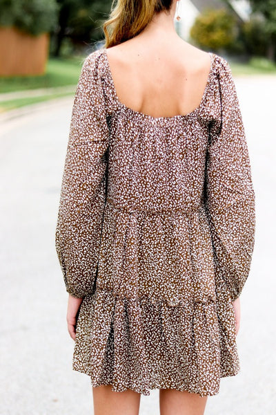 Wild At Heart Square Neck Dress