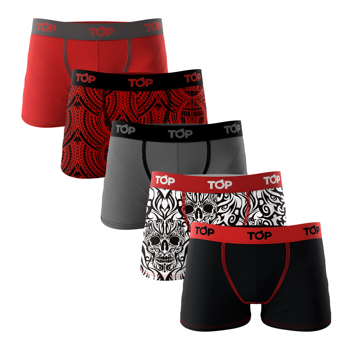 Boxer Niño Microfibra Tattoo TRIBAL Pack 5 C2