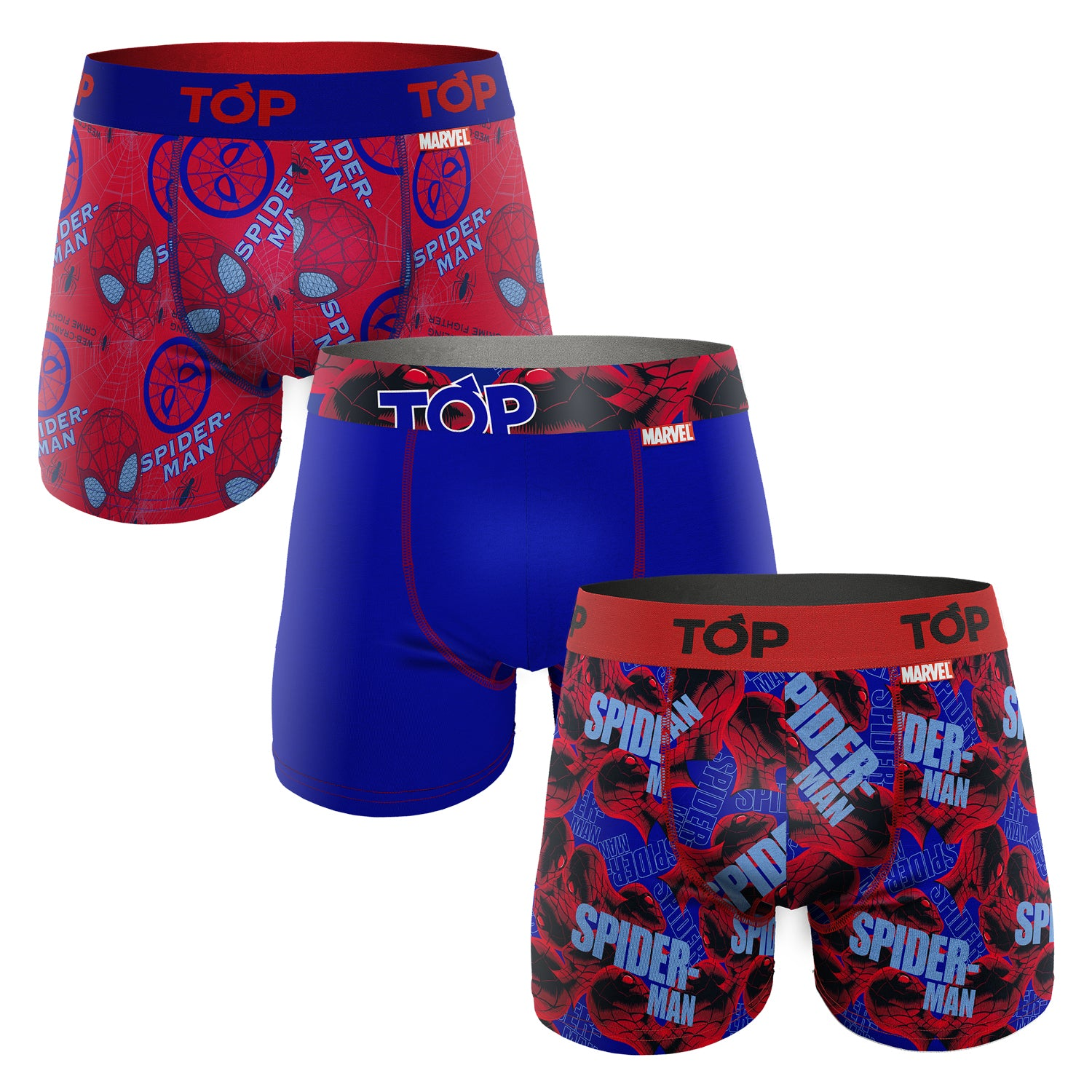 Boxer Medio Marvel Algodón Pack 3 Dorado SPIDERMAN