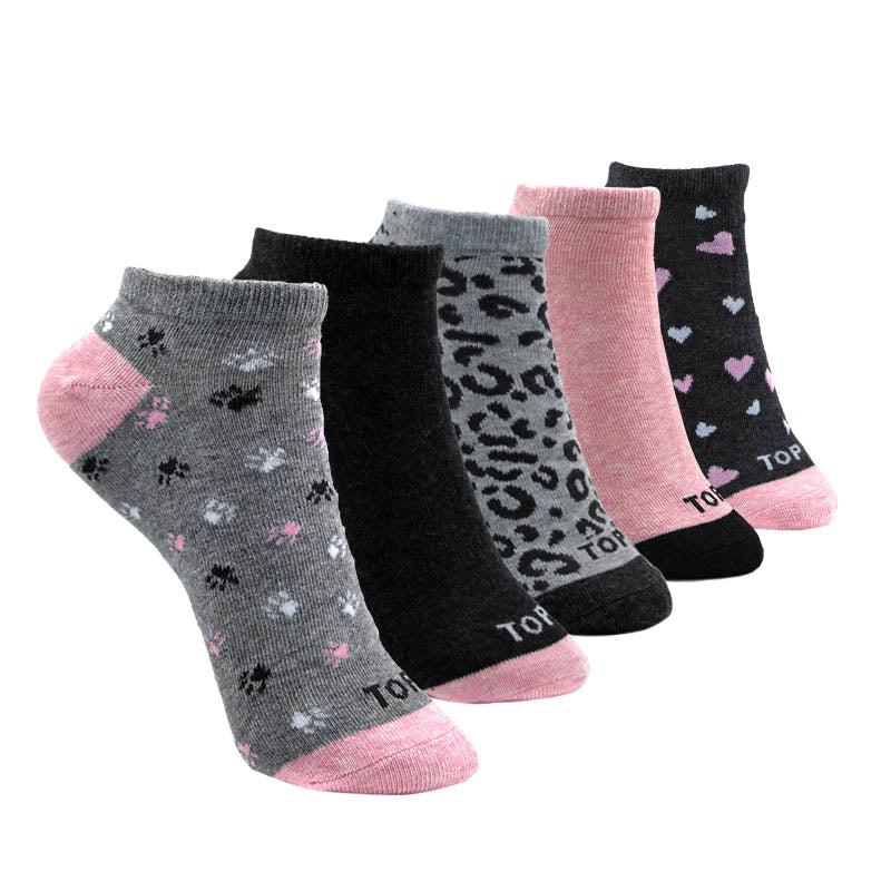Pack 5 Calcetines Cortos Mujer