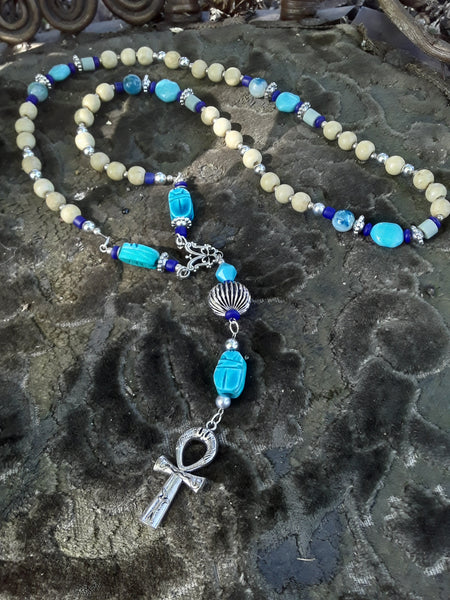 Trixie & Lisa Ankh Prayer Beads Necklace