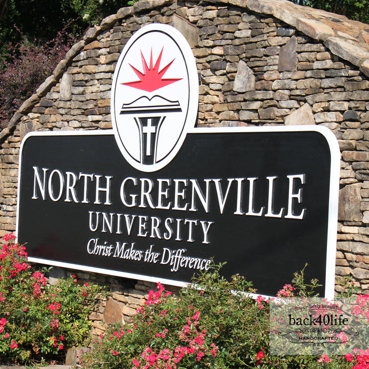 North Greenville University Entrance Sign