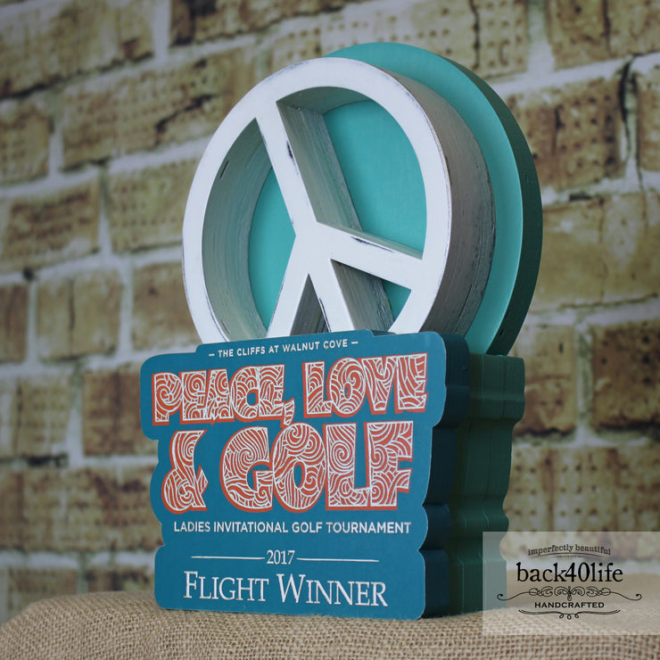 Peace, Love & Golf Trophy