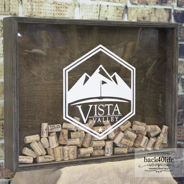 Wine Cork Shadowbox - Club Size