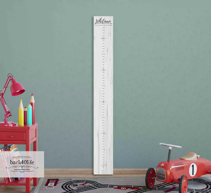 Wooden Kids Growth Height Chart Ruler for Boys and Girls (The Whitman) - Express Edition