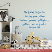 Fruit of the Spirit - Galatians 5:22 Vinyl Wall Decal (B-008a)