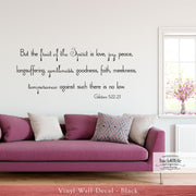 Fruit of the Spirit - Galatians 5:22 Vinyl Wall Decal (B-008d)