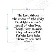 The Lord Directs the Steps of the Godly - Psalm 37:23-24 Vinyl Wall Decal (B-009)