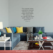 The Beauty Within - 1 Peter 3:4 Vinyl Wall Decal (B-012)