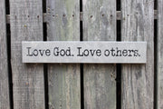 Love God Love Others - Painted Wooden Sign (S-103)