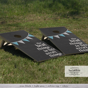 Handcrafted Cornhole Set - The Best Things with Pennant (CH-001b)
