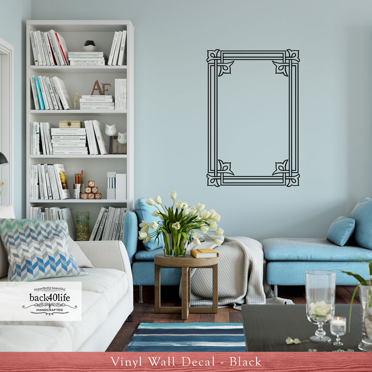 Embellished Frame Vinyl Wall Decal (D-002)