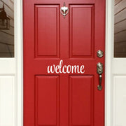 Welcome Front Door Vinyl Decal (E-001b)