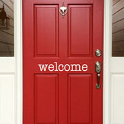 Welcome Front Door Vinyl Decal (E-001c)