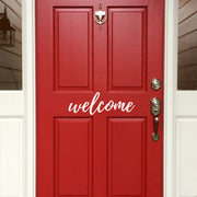 Welcome Front Door Vinyl Decal (E-001e)