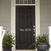 House Number Door Decal (E-002a)