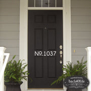 House Number Door Decal (E-002e)