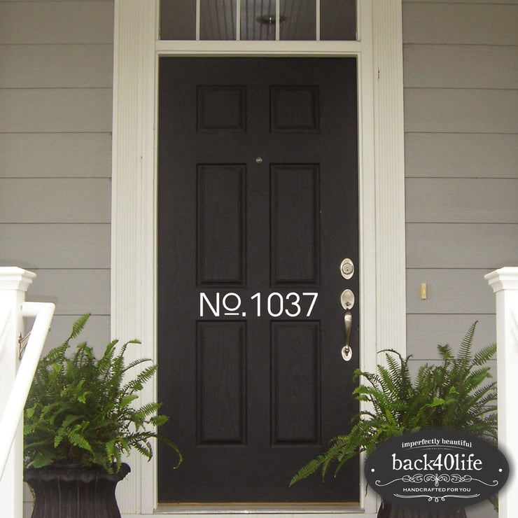 House Number Door Decal (E-002f)