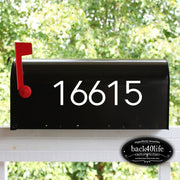 Mailbox Numbers Street Address Vinyl Decal (E-004s)