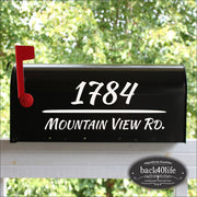 Brush Mailbox Numbers Street Address Vinyl Decal (E-004u)