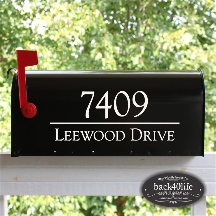 Mailbox Numbers Street Address Vinyl Decal (E-004v)