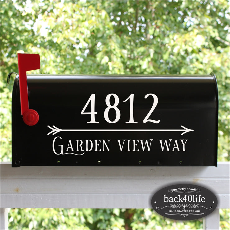 Artistic Mailbox Numbers Street Address Vinyl Decal (E-004w)