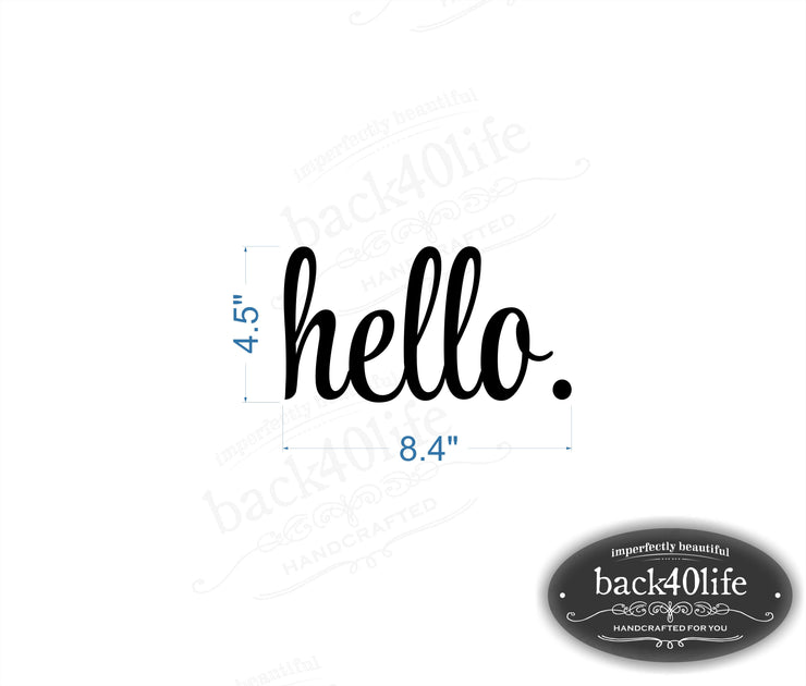 Hello Front Door Vinyl Decal (E-005b)