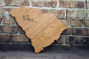 Wooden State Cutout Wedding Guestbook (W-074)