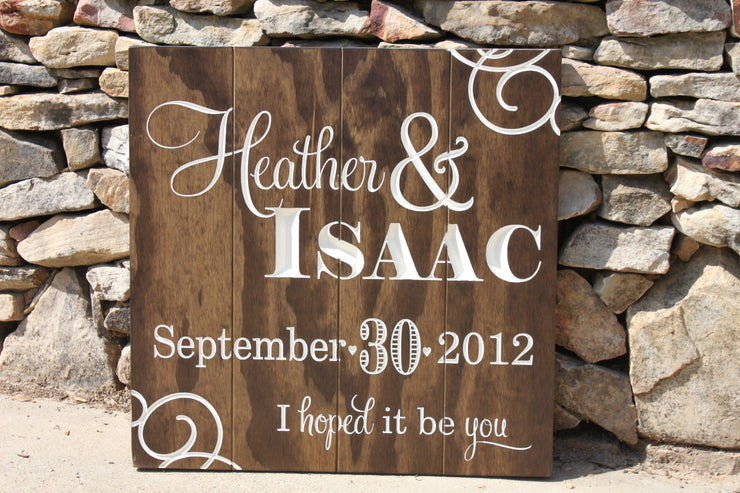 Wedding or Reception Wood Sign - The Adam & Autumn (W-031)
