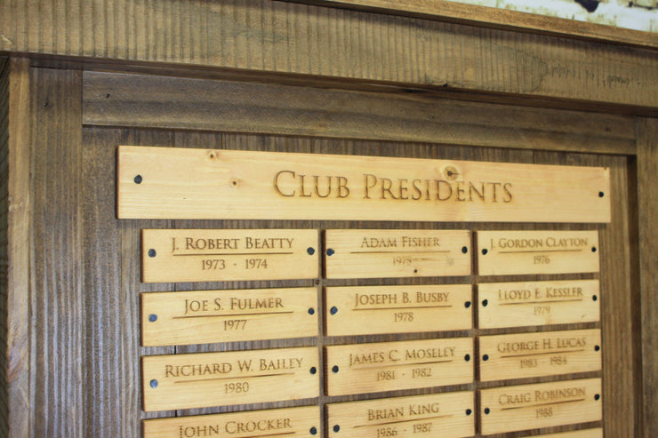Perpetual Trophy - Holly Tree Club Presidents