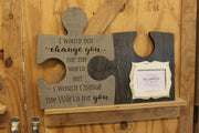 Change the World Kid's Wooden Puzzle Picture Frame (S-101)