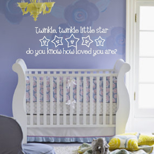 Twinkle, Twinkle Little Star Vinyl Wall Decal (K-015)