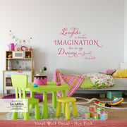 Laughter is Timeless - Tinkerbell Quote Vinyl Wall Decal (K-065)
