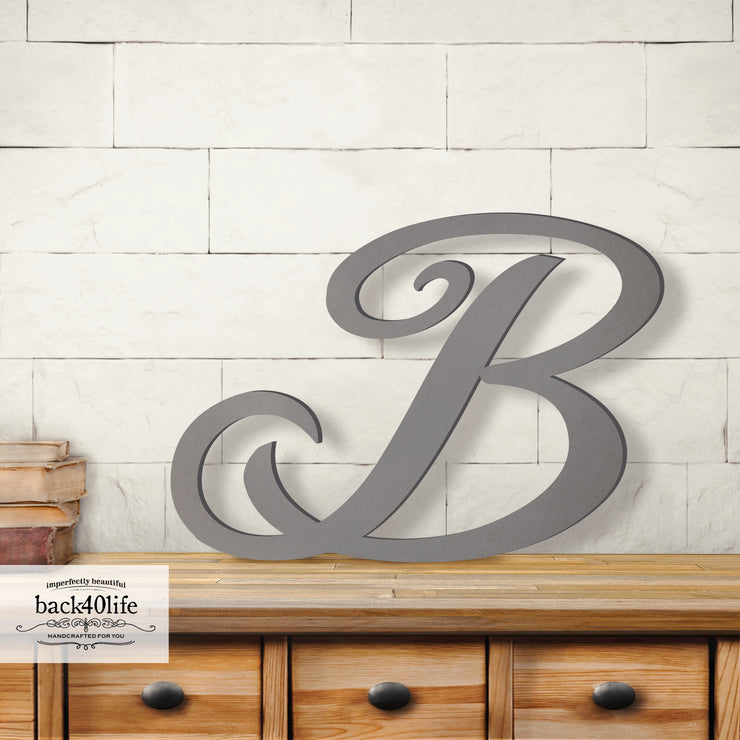Precision Cut Brush Wood Monogram Letter (LC-09)