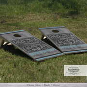 Handcrafted Wedding Cornhole Set - The Sorensen with Couple's Names (CH-001j)