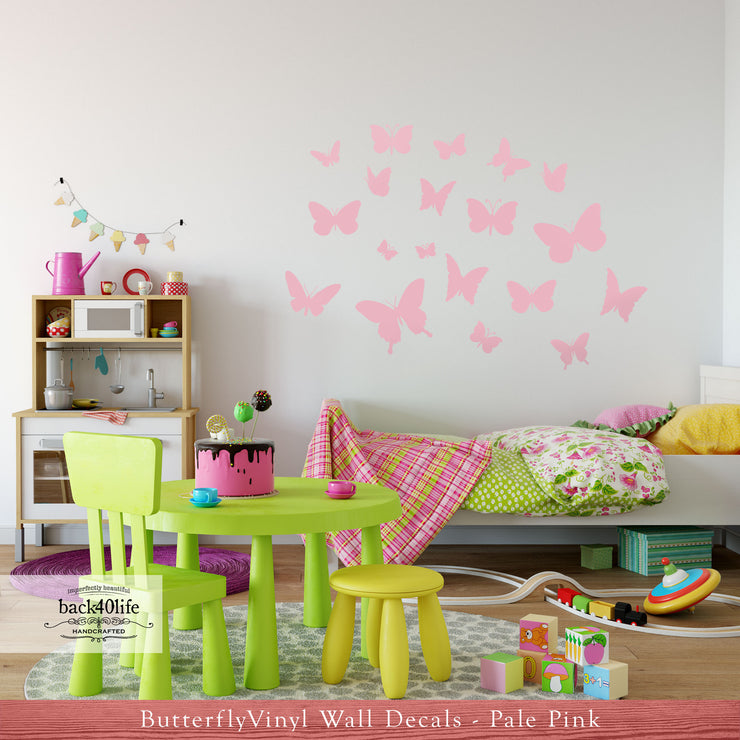 Butterfly Vinyl Wall Decals for Kid's Bedroom (K-055)