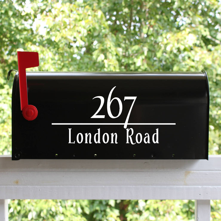 Classic Mailbox Numbers Street Address Vinyl Decal (E-004c)