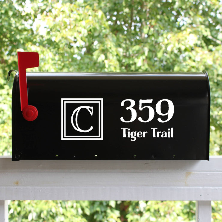 Double Block Mailbox Numbers Street Address Vinyl Decal (E-004j)