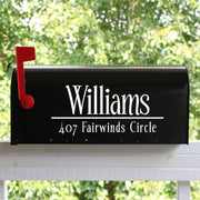 Classic Mailbox Numbers Street Address Vinyl Decal (E-004d)