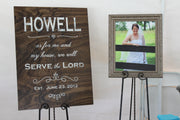 Wooden Wedding or Reception Welcome Sign - The Howell (S-007-2)