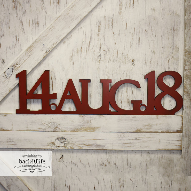 Save the Date Event Painted Wooden Cutout (S-045)
