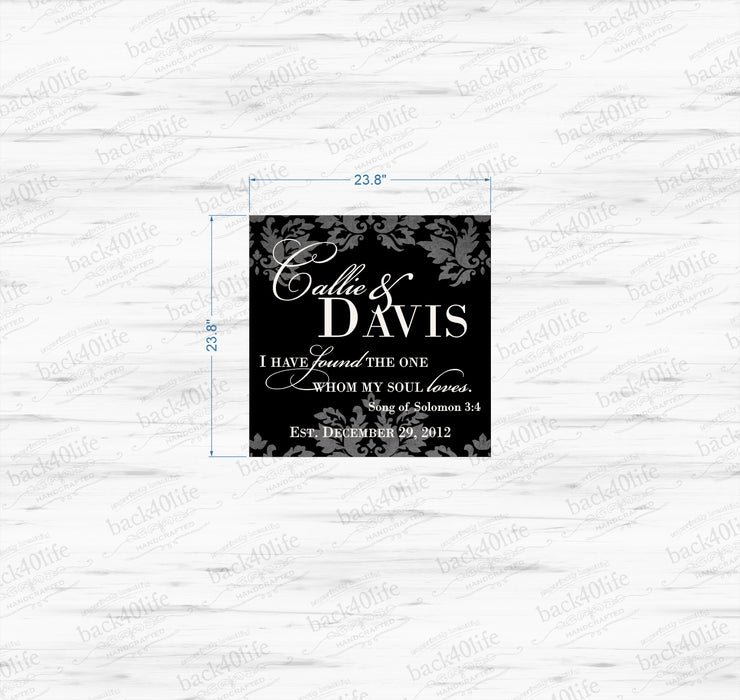 Wooden Wedding Reception Entrance Sign - Callie and Davis (W-049a)