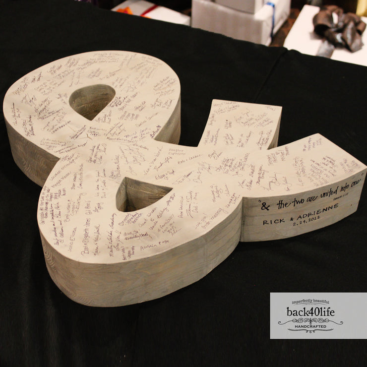 3-D Ampersand Wedding Guestbook (W-025a)