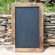 Farmhouse Style Rustic Chalkboard with Wood Frame (W-040)