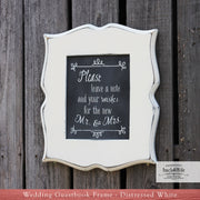 Guestbook Wood Picture Frame with Chalkboard Finish (W-042)