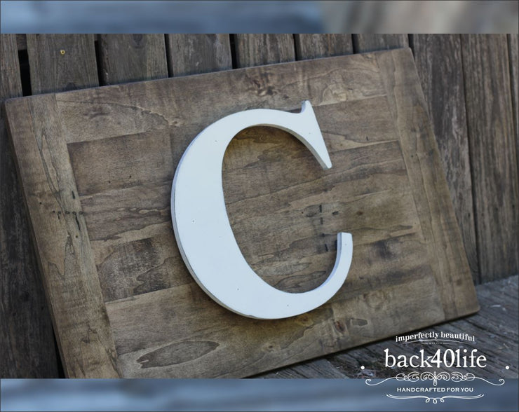 Stacked Pallet Wooden Wedding Guestbook (W-045)