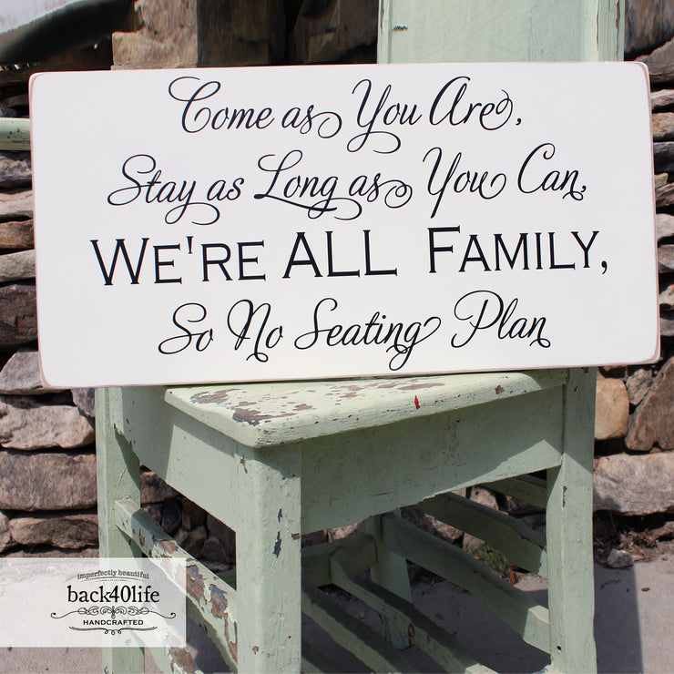 No Seating Plan Wood Wedding Sign (W-051)