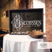 Wine Cork Shadowbox Guestbook Wedding Reception (W-060)